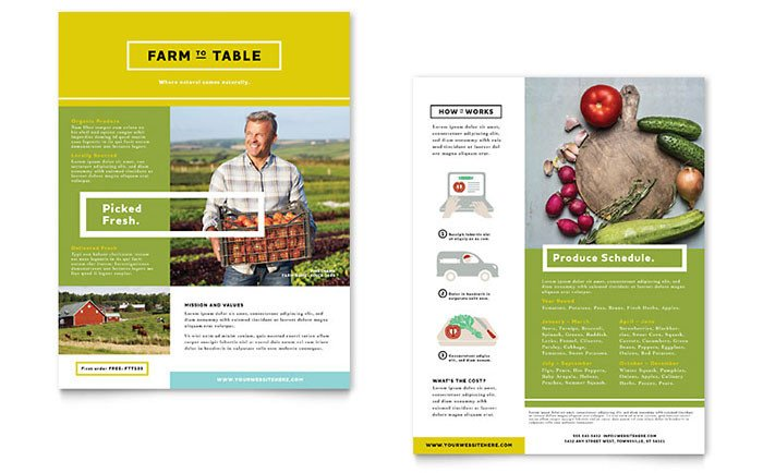 Product Sell Sheet Template organic Food Datasheet Template Design