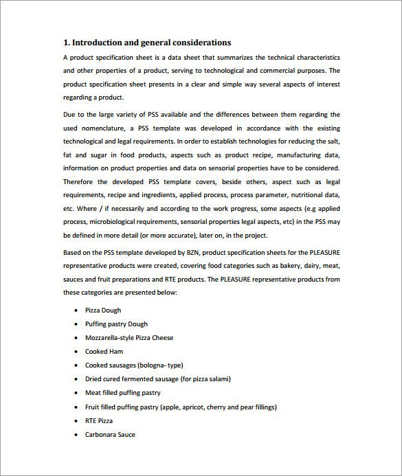 Product Spec Sheet Template 10 Spec Sheet Templates Pdf Doc