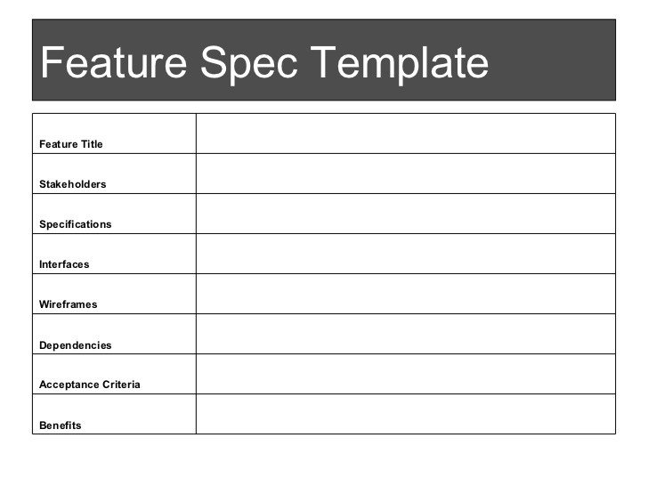 Product Spec Sheet Template Spec Sheet Template