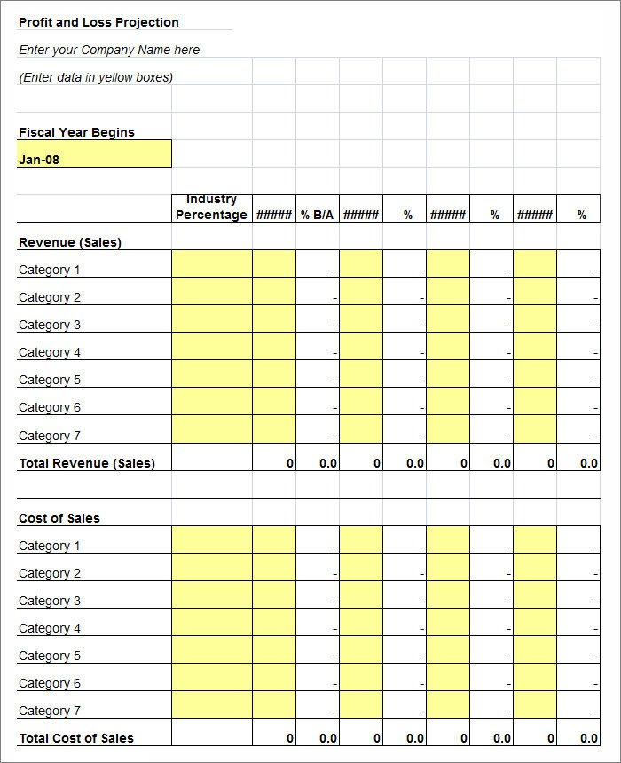 Profit Loss Template Excel 11 Profit and Loss Statements Word Pdf Google Docs