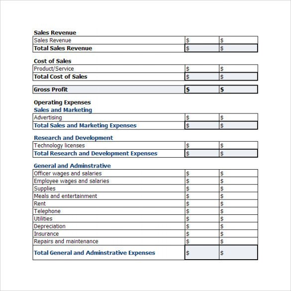 Profit Loss Template Excel 20 Sample Profit and Loss Templates Docs Pdf Apple