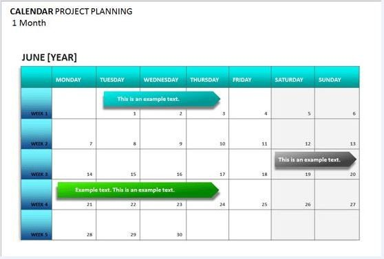 Project Management Schedule Template Project Calendar Template