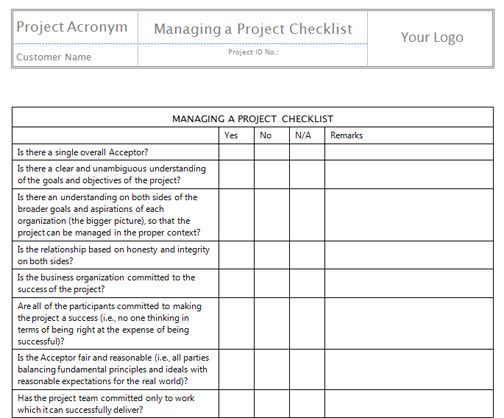 Project Management Task List Template Monitor and Control Project Work Templates