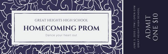 Prom Ticket Template Free Customize 346 Ticket Templates Online Canva