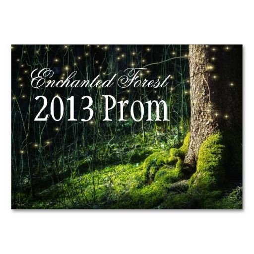 Prom Ticket Template Free Enchanted forest theme