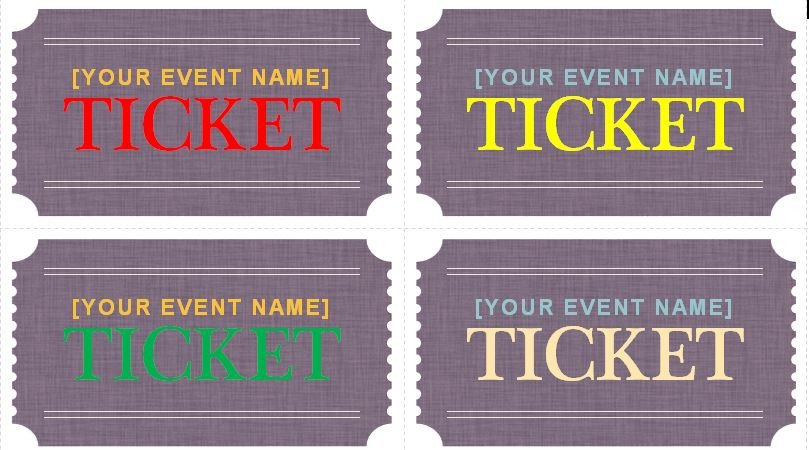 Prom Ticket Template Free Generic event Ticket Templates