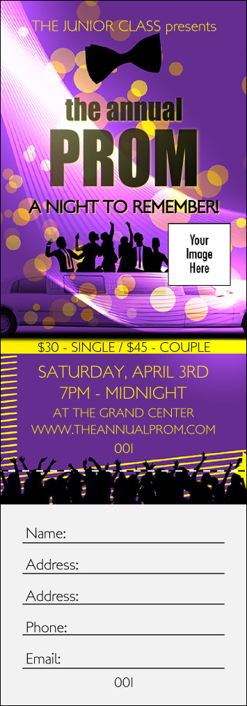 Prom Ticket Template Free Prom Limo Raffle Ticket