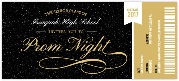 Prom Ticket Template Free Prom Ticket Stub Prom Invitation