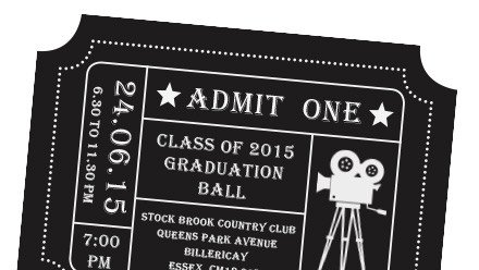 Prom Ticket Template Free School Yearbooks and Leavers Books From £5