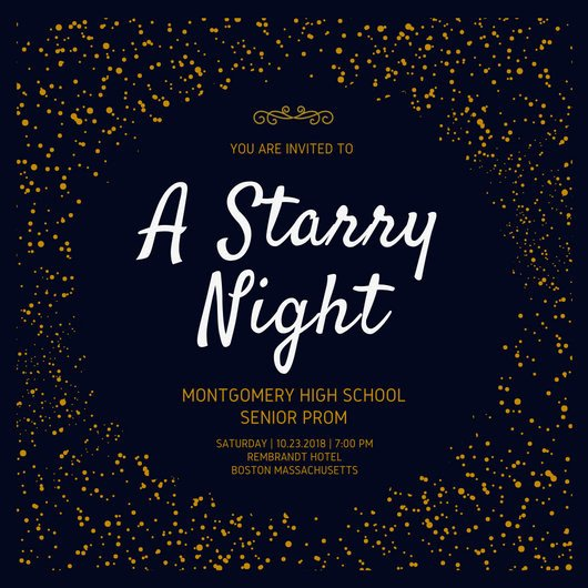 Prom Ticket Template Free Starry Night Prom Invitation Templates by Canva