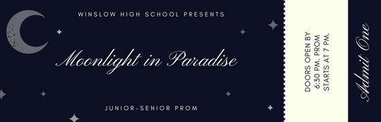 Prom Ticket Template Free Ticket Templates Canva