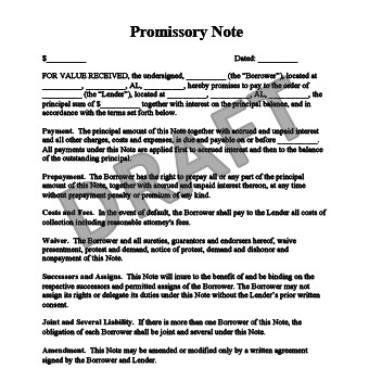 Promissory Note Template Florida Create A Free Promissory Note In Minutes