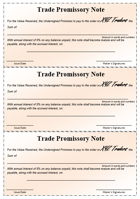 Promissory Note Template Microsoft Word 43 Free Promissory Note Samples & Templates Ms Word and
