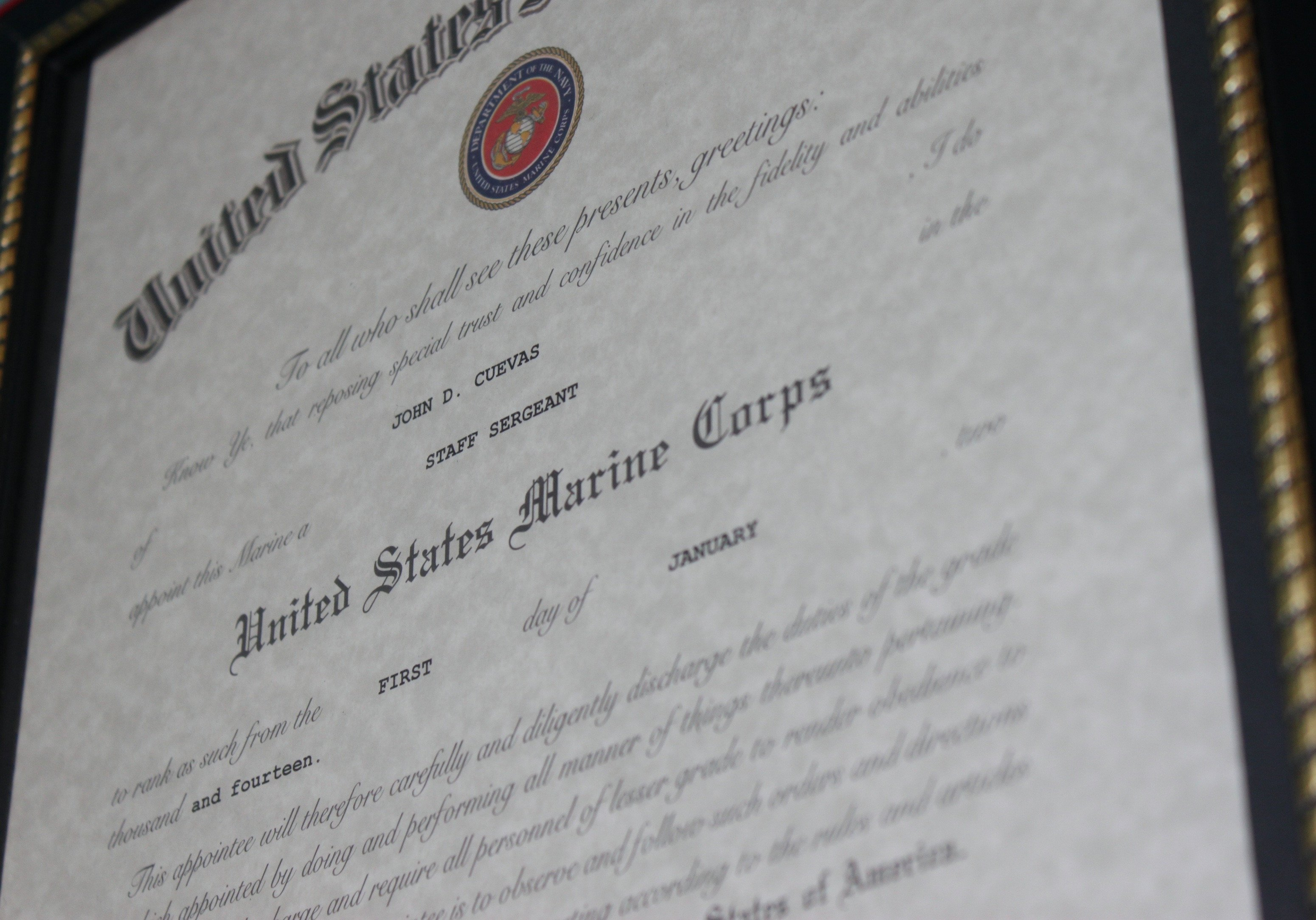 Promotion Warrant Template Usmc Marine Corps – the Fameless Woodworker