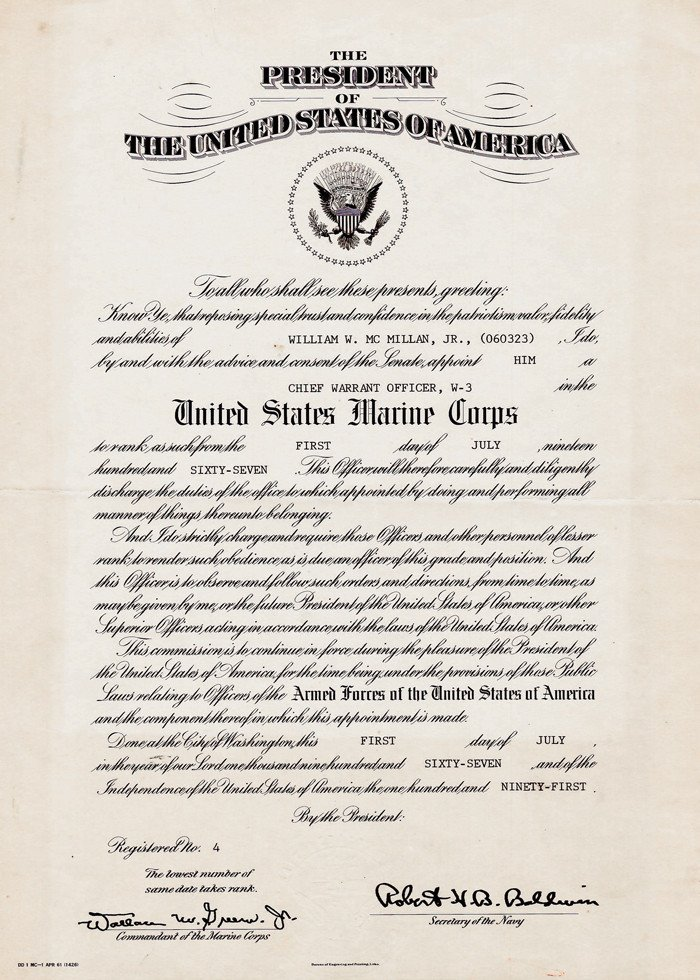 Promotion Warrant Template Usmc Promotion Promotion Warrant Usmc