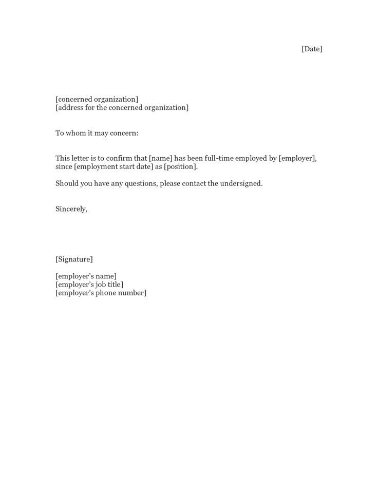 Proof Of Employment Letter Template 1000 Images About Sample Employment Letters On Pinterest