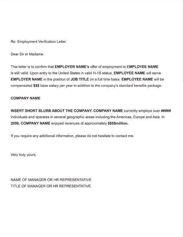 Proof Of Payment Letter Employment Verification Letter Template