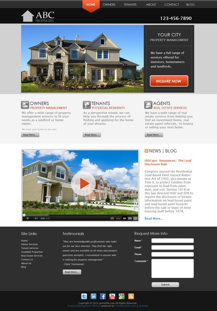 Property Management Websites Templates 1000 Images About Pmw Smart Site Designs On Pinterest