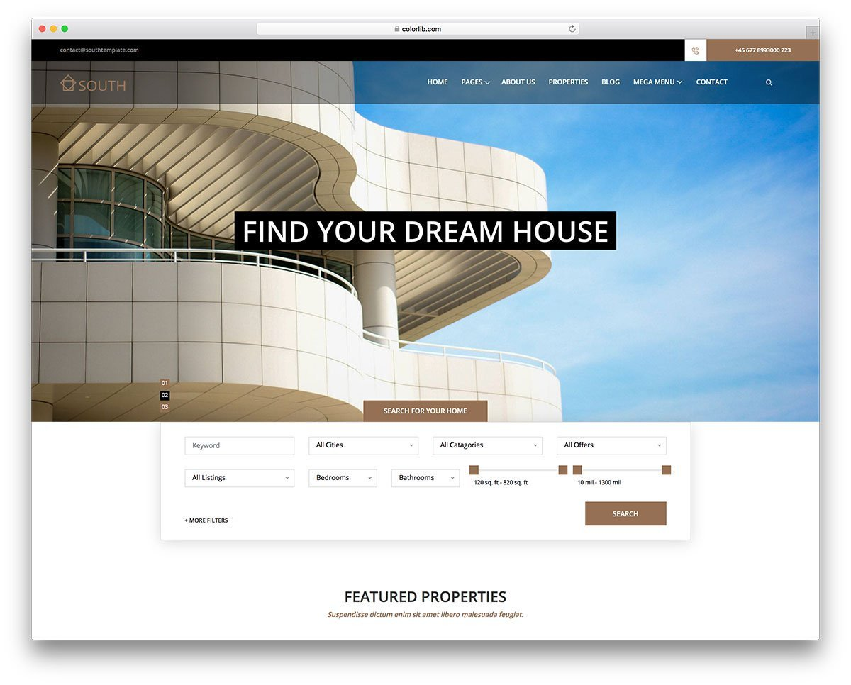 Property Management Websites Templates 14 Best Free Real Estate Website Templates 2019 Colorlib