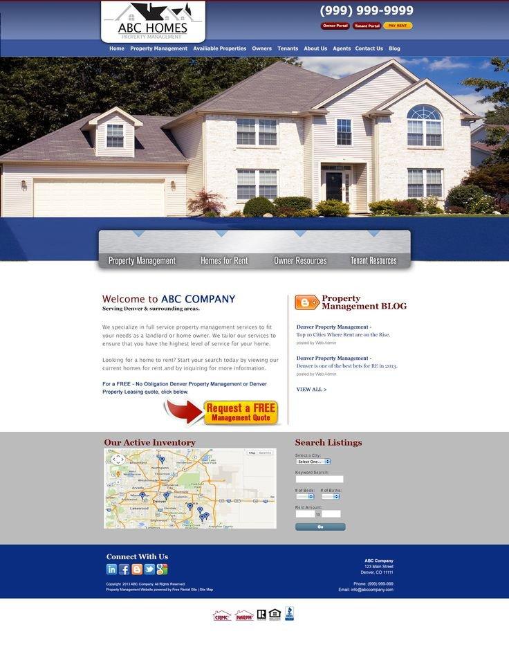 Property Management Websites Templates 9 Best Images About Pmw Smart Site Designs On Pinterest