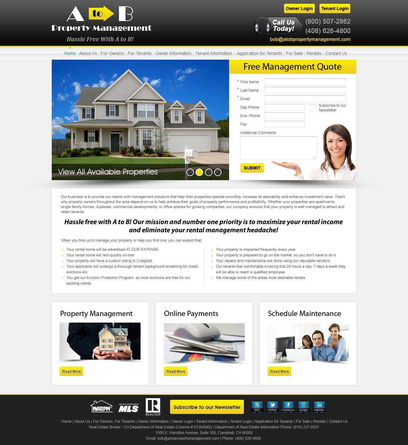 Property Management Websites Templates Custom Wordpress theme for Property Management Websites