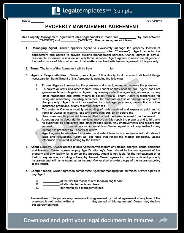 Property Management Websites Templates Property Management Agreement