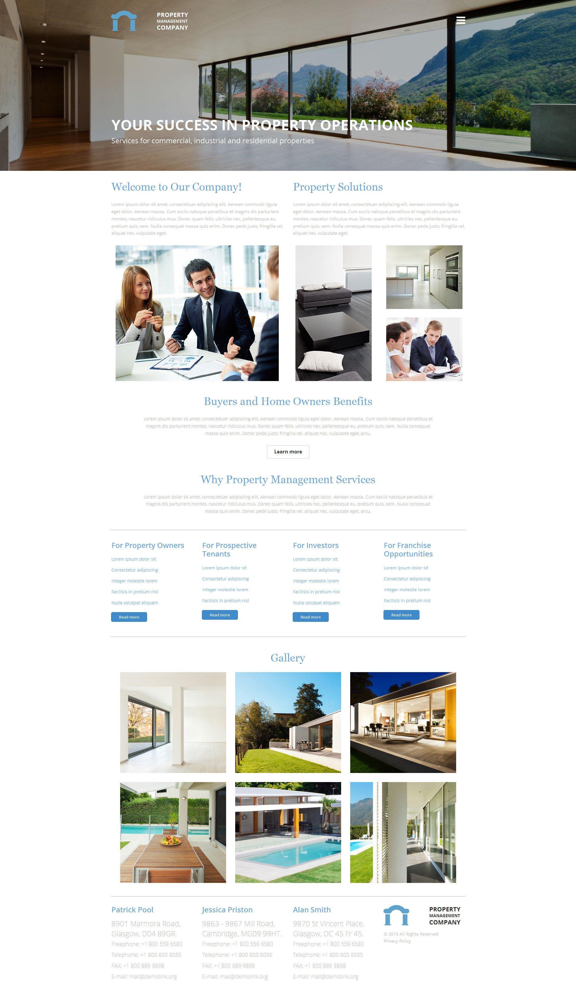Property Management Websites Templates Property Management Pany Website Builder