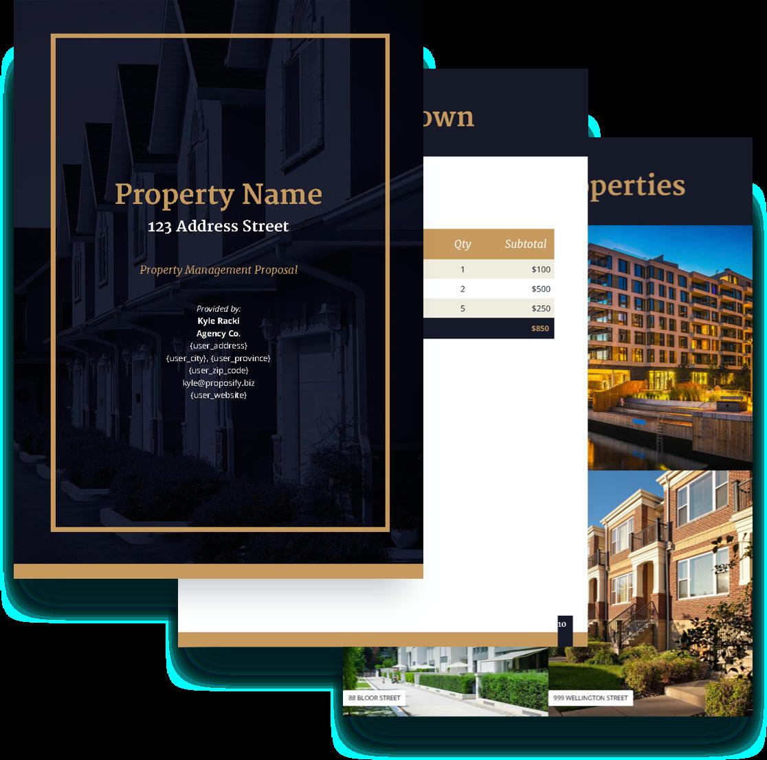Property Management Websites Templates Property Management Proposal Template Free Sample