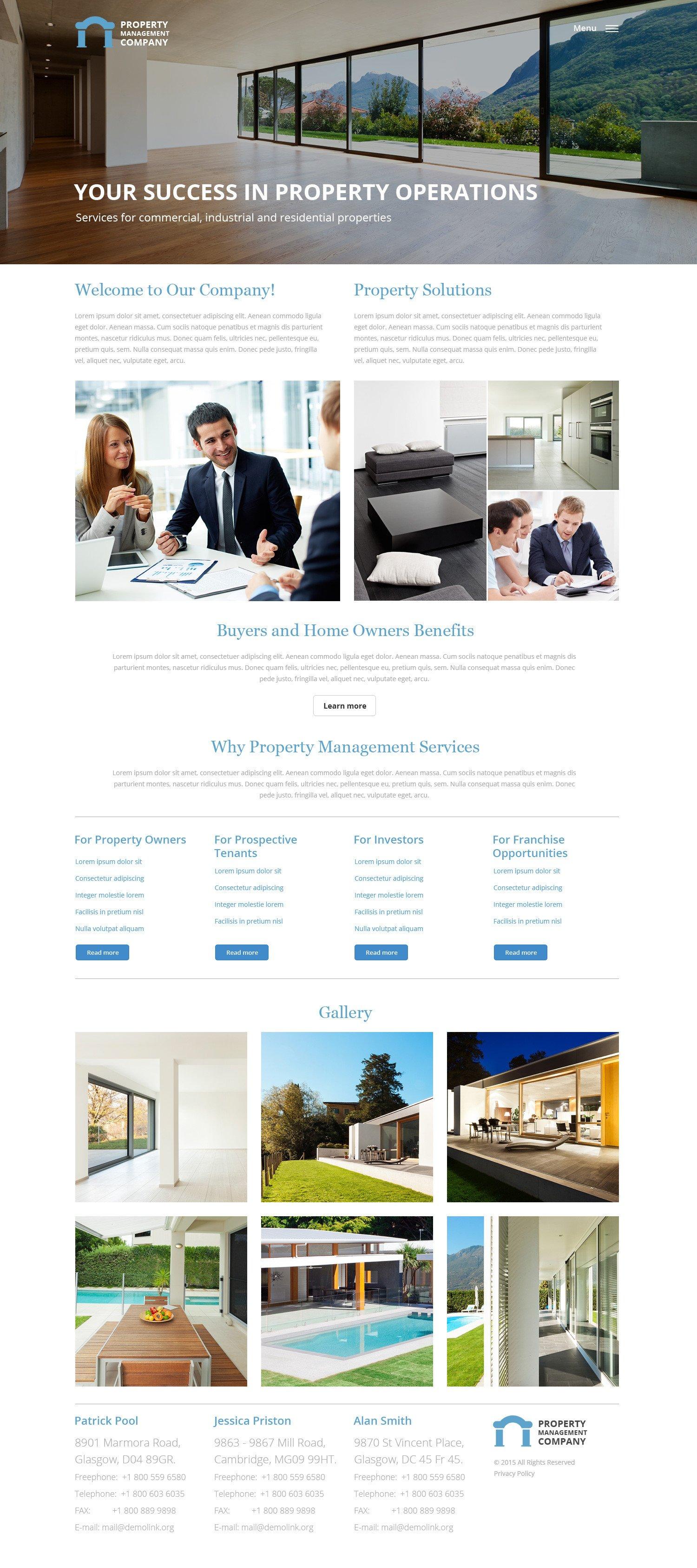 Property Management Websites Templates Property Management Responsive Website Template