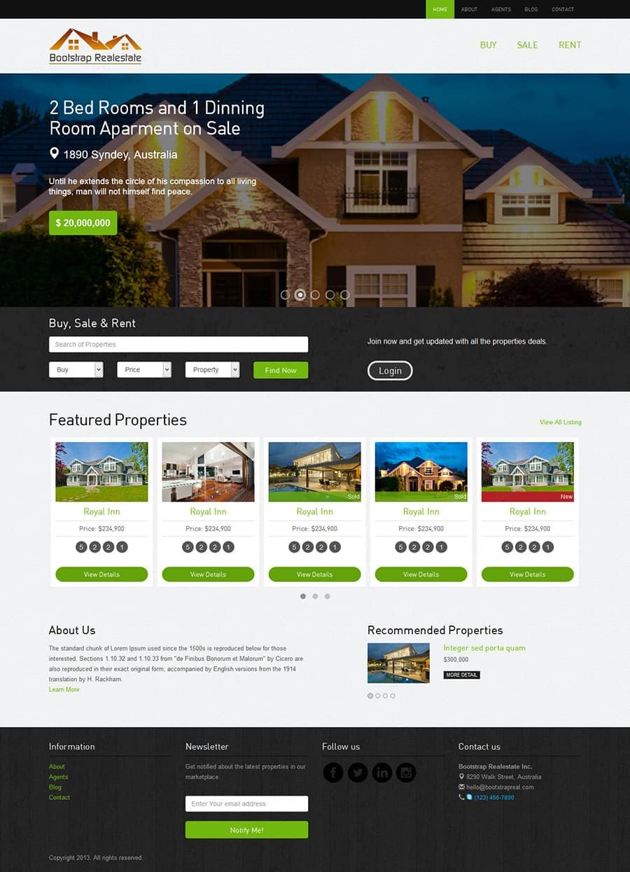 Property Management Websites Templates Real Estate Bootstrap Template the Bootstrap themes
