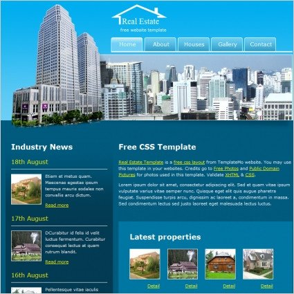 Property Management Websites Templates Real Estate Free Website Templates In Css Js format