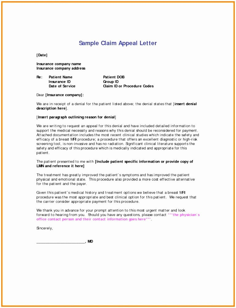 Provider Appeal Letters Sample 5 Appeal Letter to Insurance Pany From Provider Tuyiw