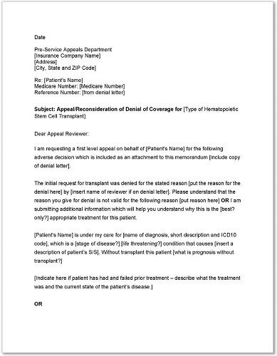 Provider Appeal Letters Sample Medicare Advantage Appeal Letter Templates