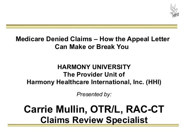 Provider Appeal Letters Sample Medicare Denied Claims How the Appeal Letter Can Make or