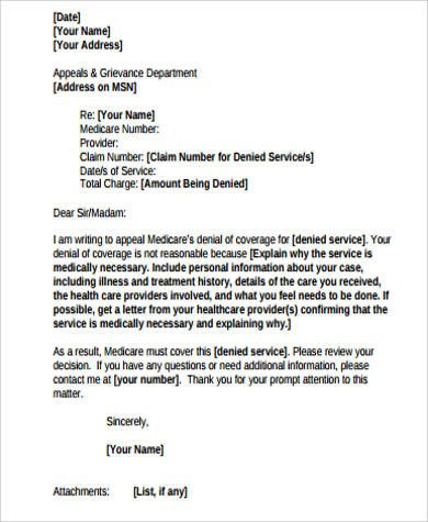 Provider Appeal Letters Sample Sample Appeal Letter 12 Examples In Word Pdf