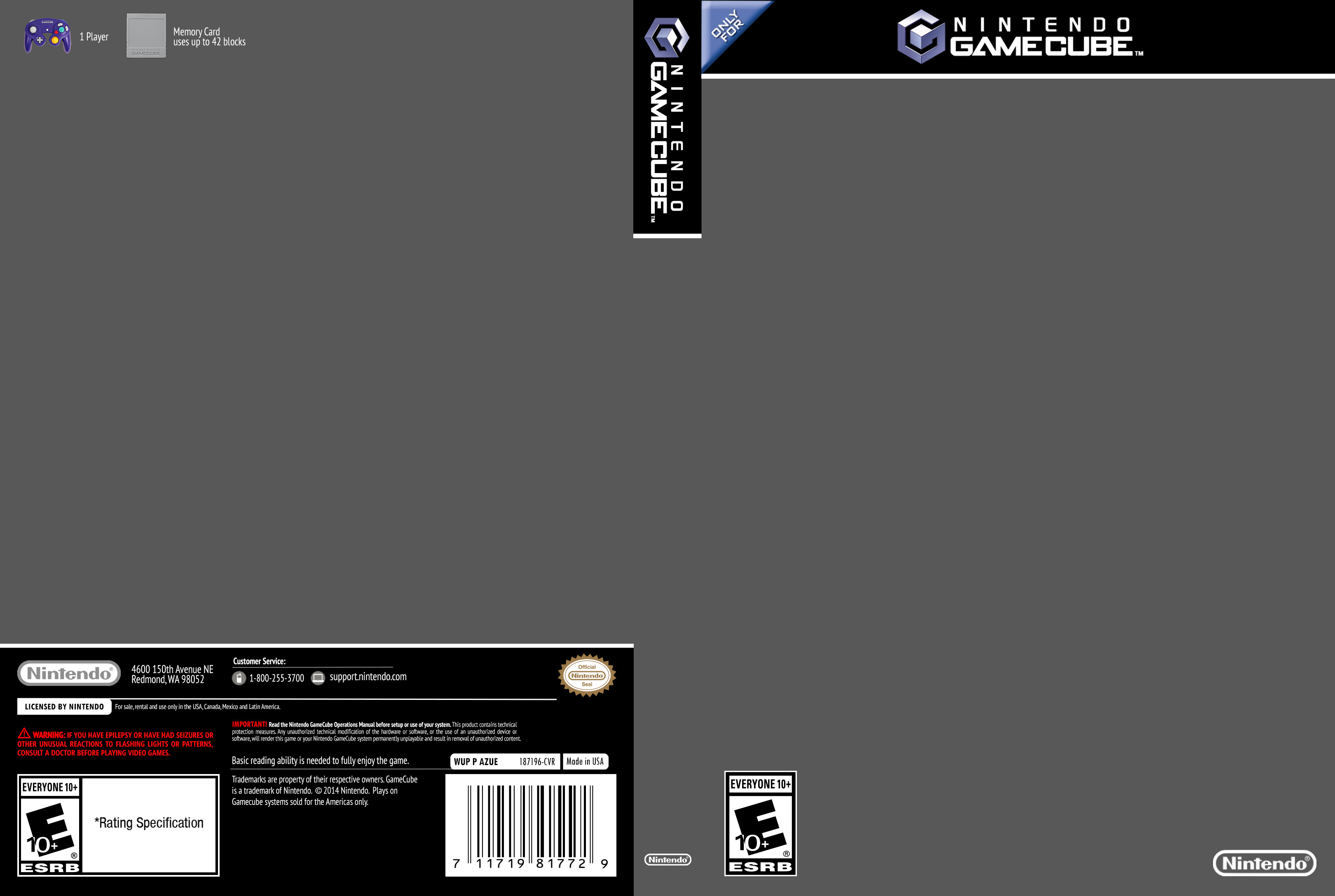 Ps2 Cover Template Gamecube Cover Template by Etschannel On Deviantart