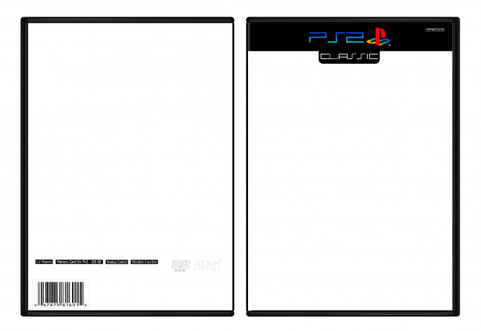 Ps2 Cover Template Playstation 2 Classic Template