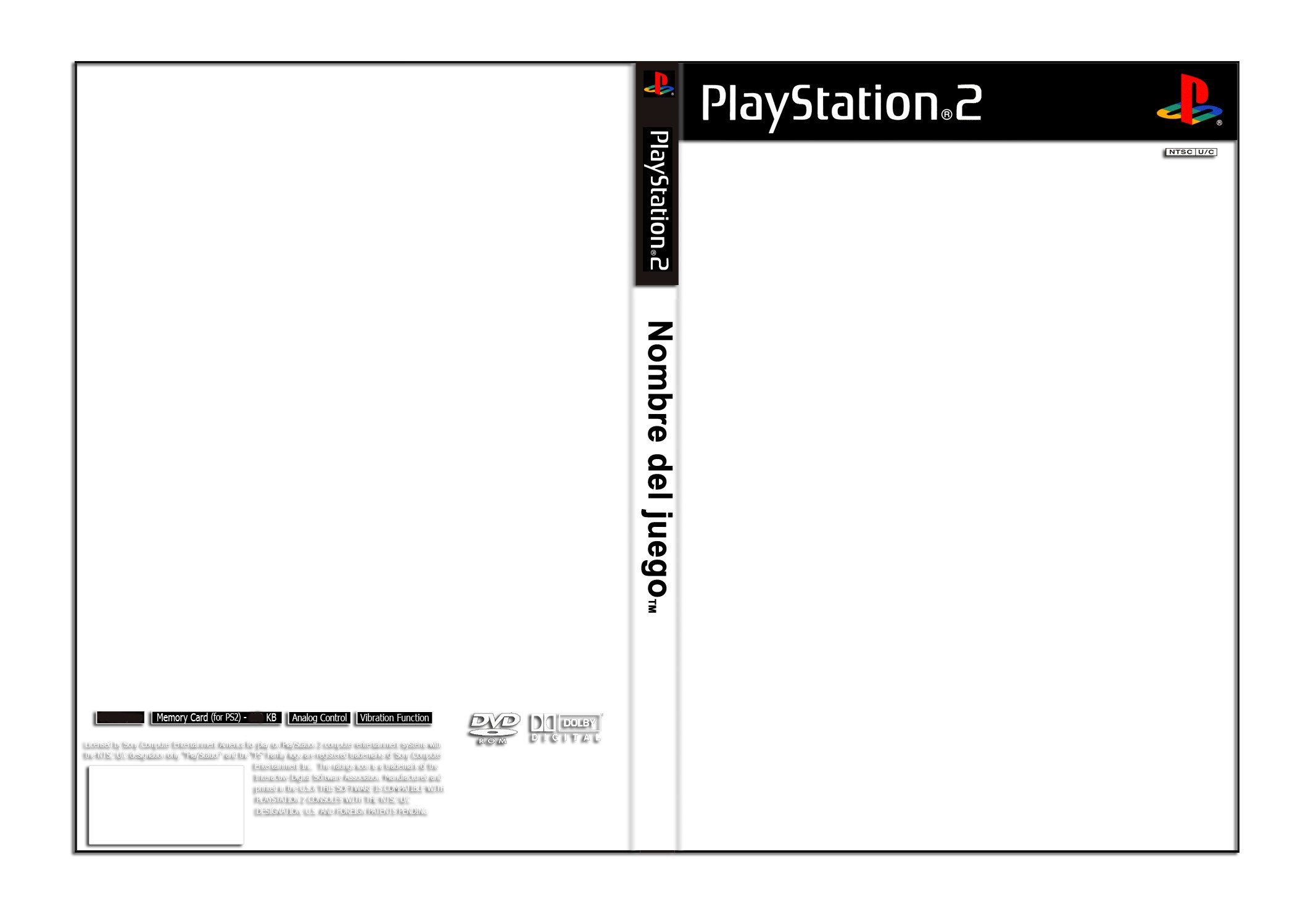 Ps2 Cover Template Template Playstation 2 Cover by Juanky On Deviantart