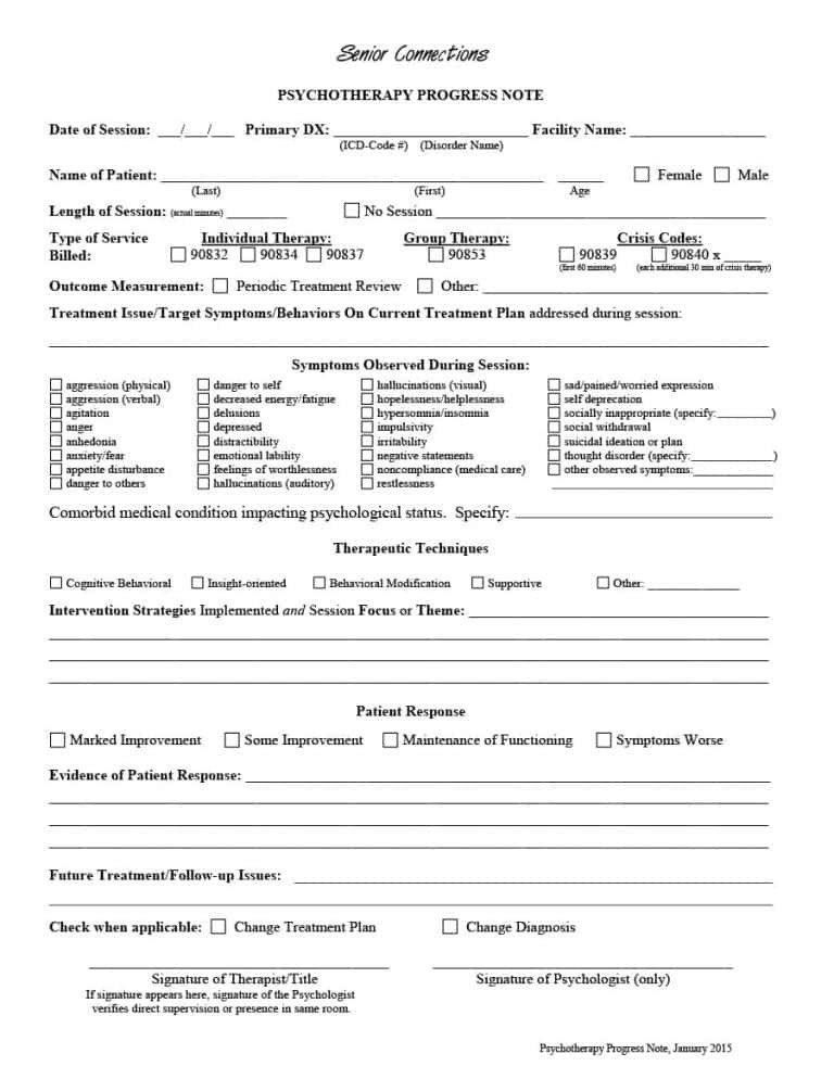 Psychotherapy Progress Note Template 43 Progress Notes Templates [mental Health Psychotherapy