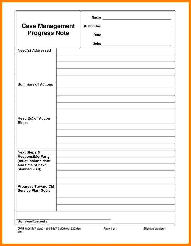 Psychotherapy Progress Note Template Pdf 6 Psychotherapy Progress Note Template