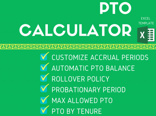 Pto Calculator Excel Template Employee Pto Calculator