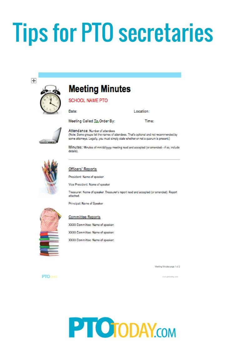 Pto Meeting Minutes Template 65 Best Meeting Ideas Images On Pinterest