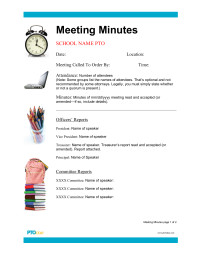 Pto Meeting Minutes Template Leader S toolkit Pto today