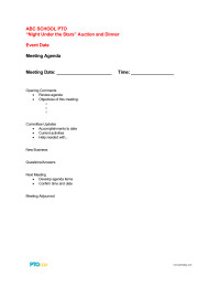 Pto Meeting Minutes Template Meetings Pto today