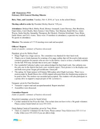 Pto Meeting Minutes Template Sample General Meeting Minutes Pto today