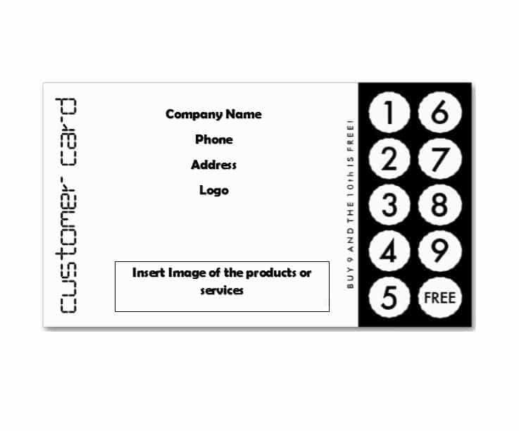 Punch Card Template Word 30 Printable Punch Reward Card Templates [ Free]