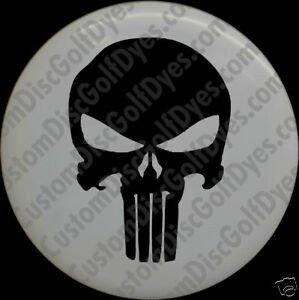 Punisher Skull Pumpkin Disc Golf Custom Dye Stencil the Punisher 2 Pack