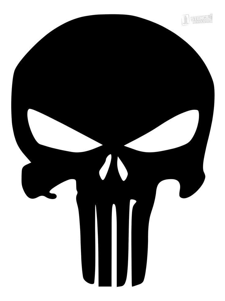 Punisher Skull Pumpkin Download Your Free Punisher Skull Stencil Here Save Time