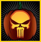 Punisher Skull Pumpkin Jp S Jammin Pumpkins