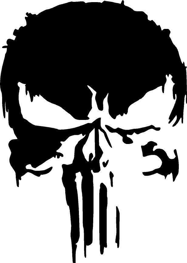 Punisher Skull Pumpkin New Marvel Punisher Skull Premium Vinyl Decal